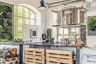 Tableau végétal naturel dans une cuisine