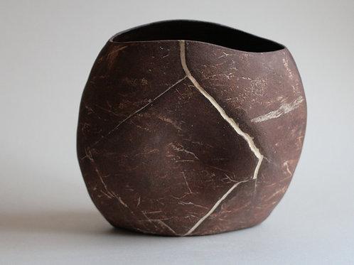 Red Jasper Stoneware Vase