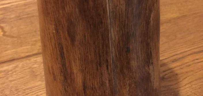 Stoneware Vase Wood Veneer