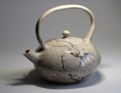 Porcelain Marbled Cream Teapot