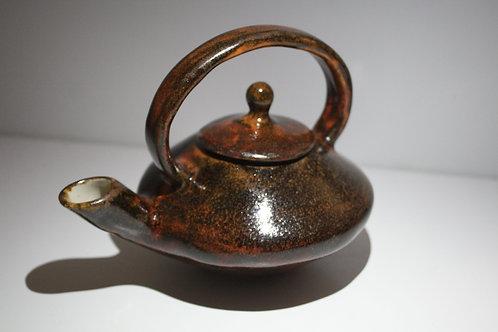 Stoneware Red Brown Teapot