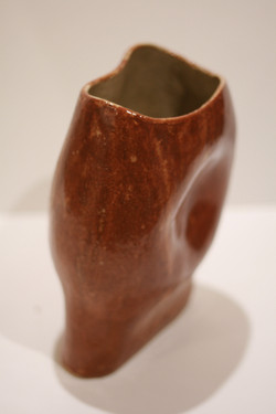 Stoneware Brown Shino Vase