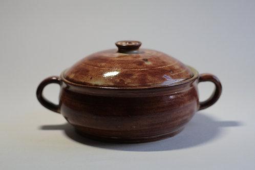Stoneware Shino Brown Cooking Pot