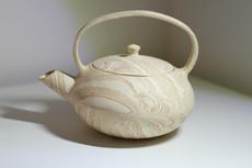Stoneware Strata Cream Teapot