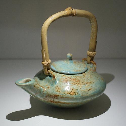 Stoneware Turquoise Teapot