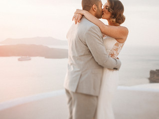 A Santorini Elopement for Dominique & Mus