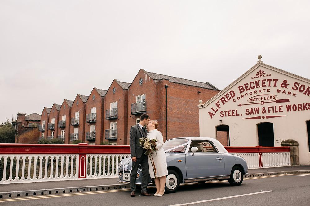 Urban Sheffield wedding photography