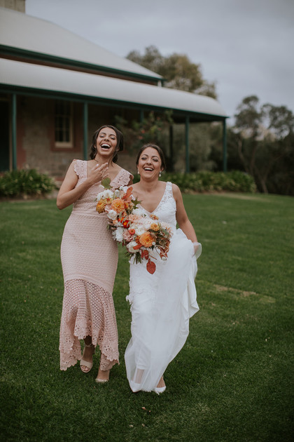 Bride & maid of honour