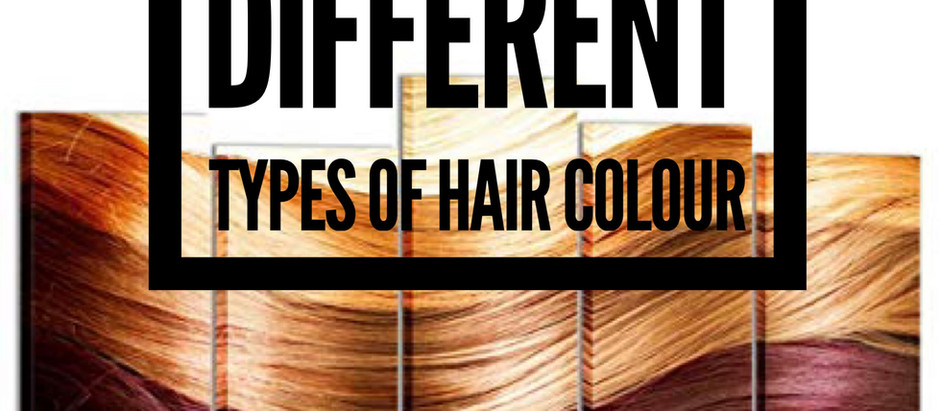 What are the different types of hair colour?