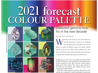 2021 Forecast Colour palette