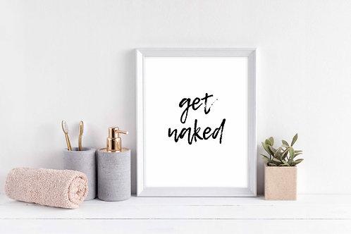 Get Naked Wall print