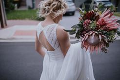 Bride on her way