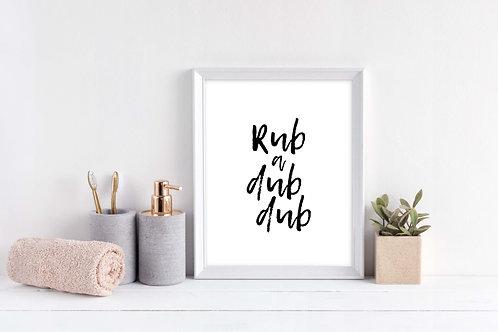 Rub a Dub Dub Wall Print
