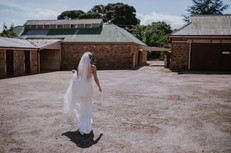The bride on her way