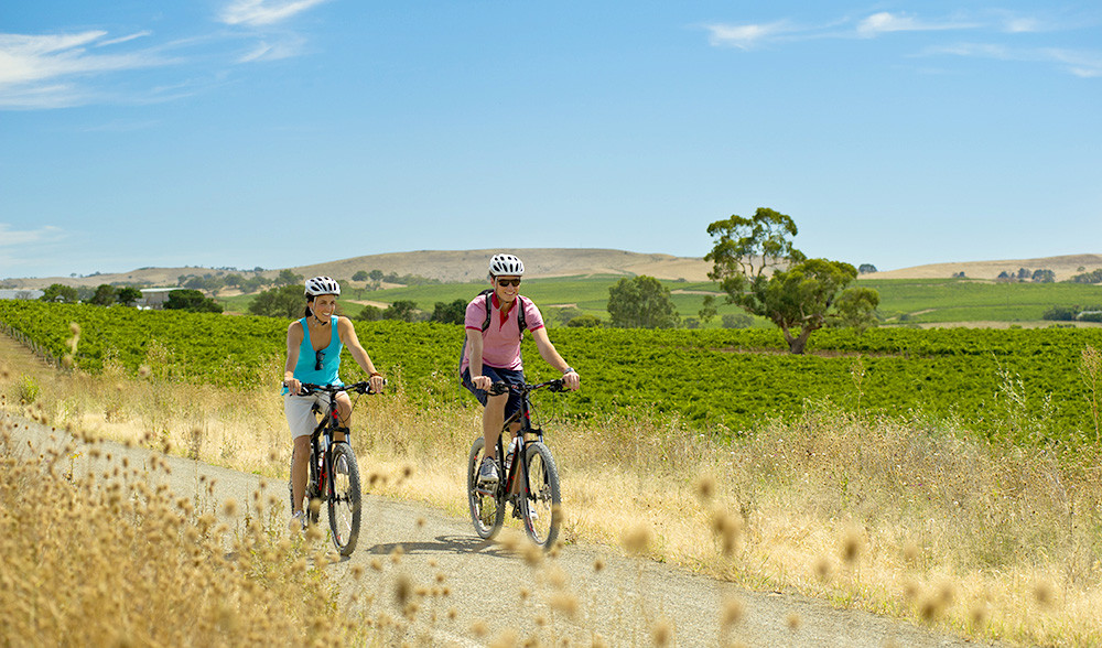 Clare Valley;s infamous Riesing Trail is a great place to take your Me-Mover for a ride
