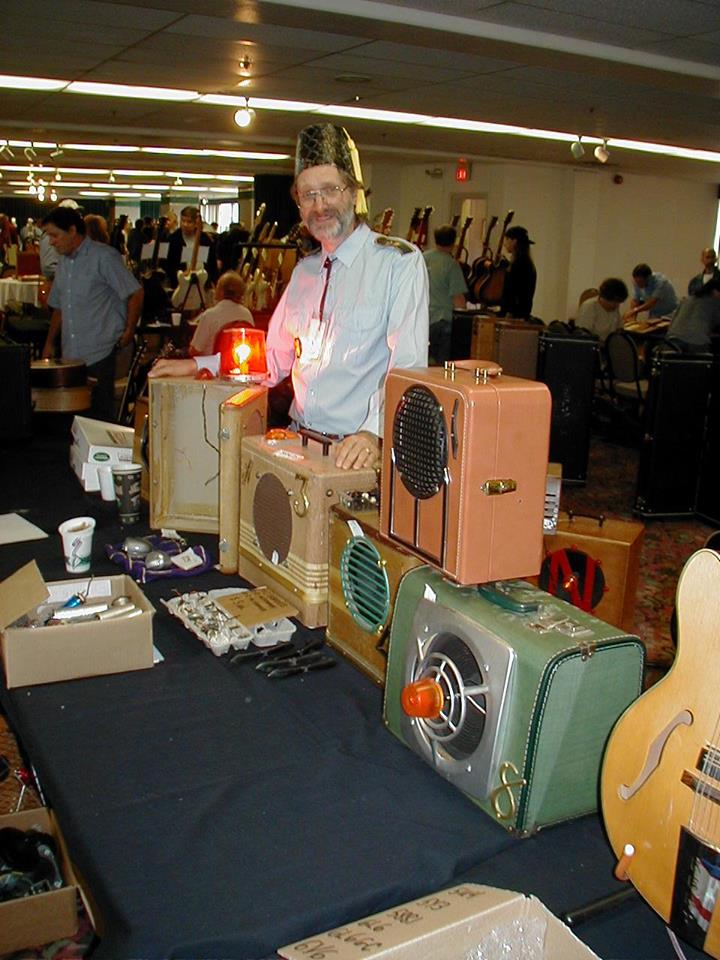 Showing Amps at Vintage Guitar Show