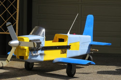 Toy plane from recycled mateirals