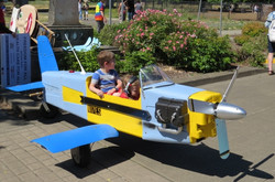 Toy airplane from recycled materials
