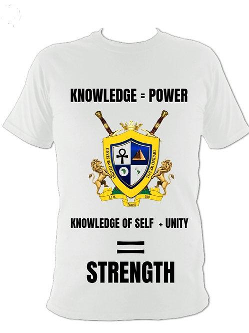 Knowledge = Power Shirt Black / White