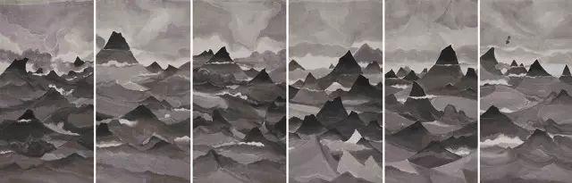 汤南南,《遗忘之海7》,纸本水墨,2013年