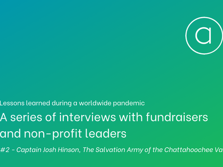 Lessons learned - an interview with Captain Josh Hinson of The Salvation Army