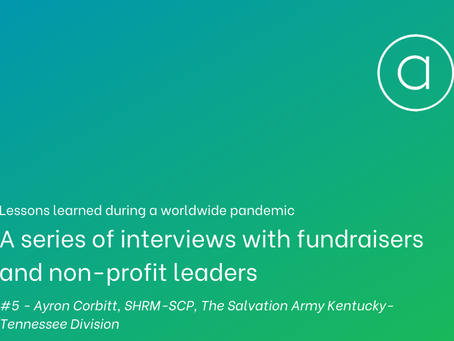 Lessons learned - an interview with Ayron Corbitt of The Salvation Army