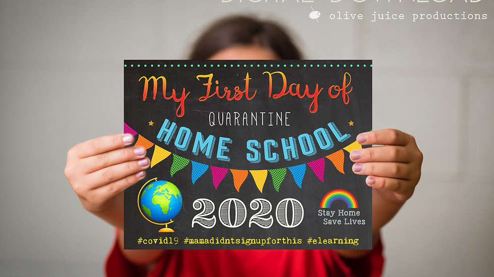First Day of Home School Printable File- Perfect Photo OP ♥