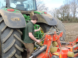 Marshall Drew and tractor