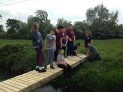 The bridge, just the handrail to go