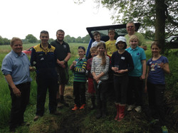 woodland clearance with rory group photo