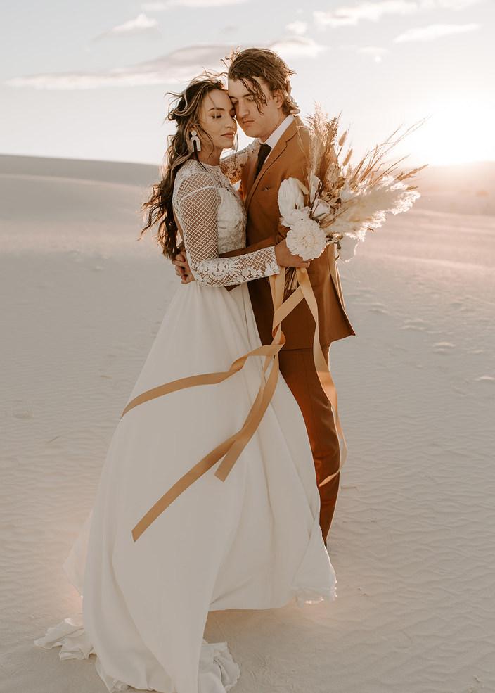 Boho White Sands Elopement