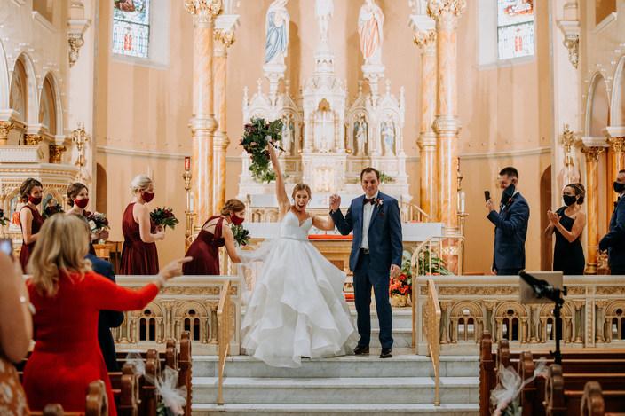 A Catholic Wedding With Flair