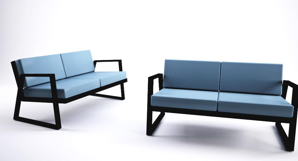 Dodeka- Fugue love seats