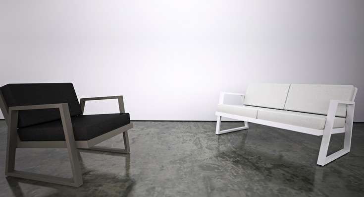 Dodeka- fugue chair and fugue love seat