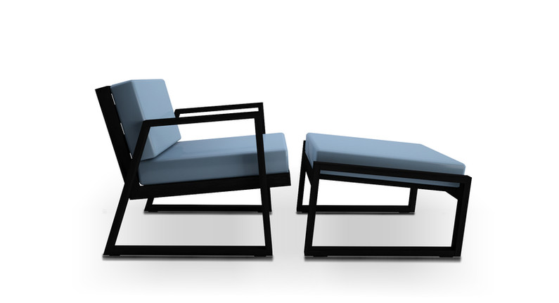 Dodeka- fugue chair and ottoman