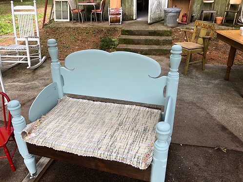 Robin Egg Blue Bench