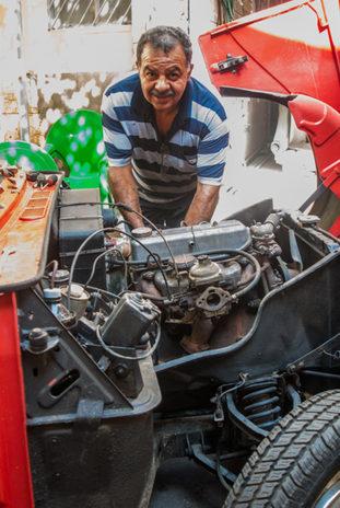 Garage de voiture vintage