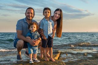 Famille à la plage 1