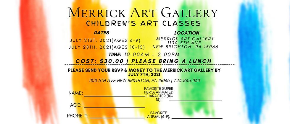 Merrick Art Classes Summer 2021