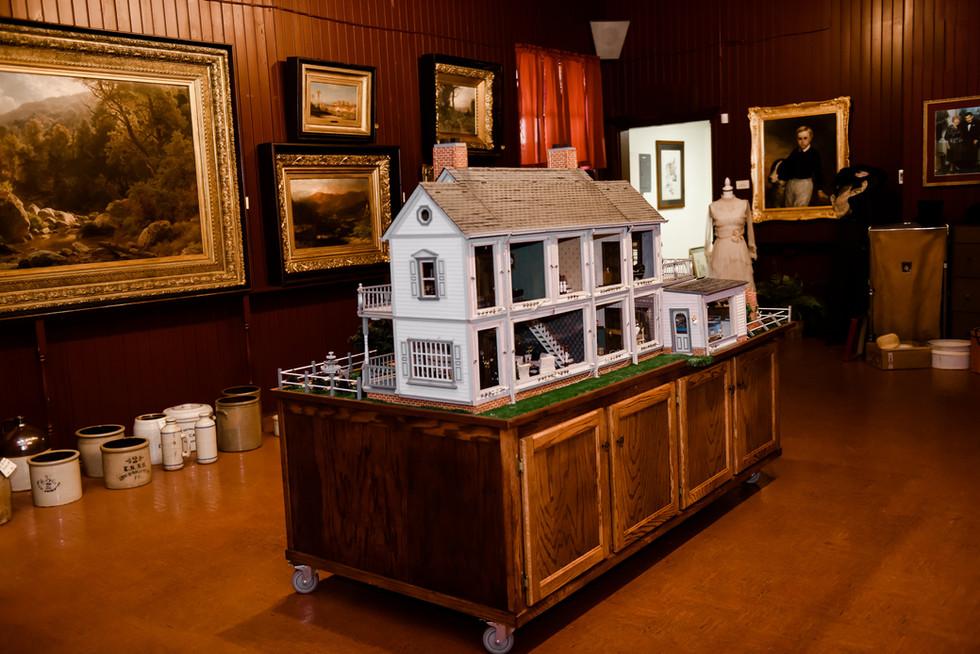Custom Dollhouse and Artwork