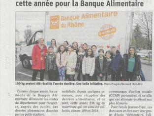 236 Kg de nourriture pour la banque alimentaire, bravo l'école Jeanne d'Arc