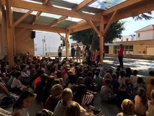 Nous avons accueilli 66 nouveaux élèves pour cette rentrée avec un goûter et des présentations en ch