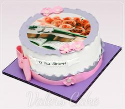 עוגת-כינור-עם-ורדים