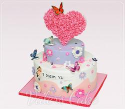 עוגת-פרחים-ולב