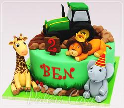 עוגת-טרקטור-וחיות
