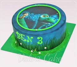 עוגה ליום הולדת הדינוזאור הטוב