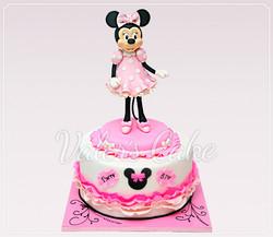 מיני מאוס עוגה מעוצבת מבצק סוכר