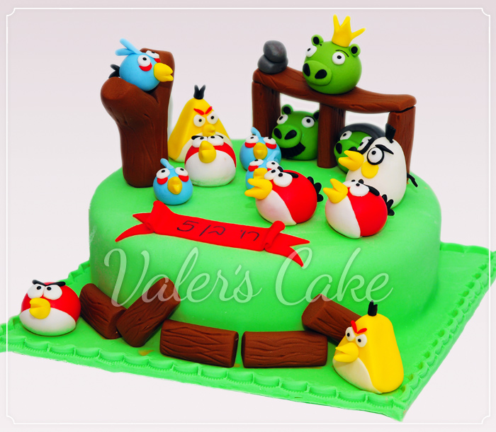 Angry-birds עוגת אנגרי בירדס
