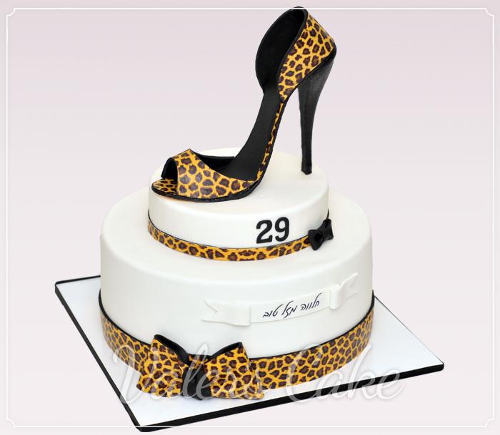עוגת-נעל-מנומרת