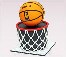 עוגה מעוצבת כדורסל